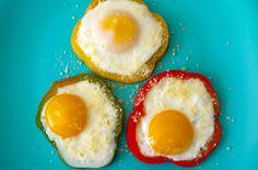 Jajka sadzone z papryką