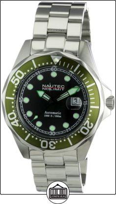 Nautec No Limit Deep Sea Bravo - Reloj analógico de caballero automático con correa de acero inoxidable plateada de  ✿ Relojes para hombre - (Gama media/alta) ✿