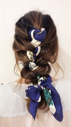 Long Box Braids: 67 Hairstyles To Upgrade Your Box Braids - Hairstyles Trends Braided Scarf, Knotted Braid, Box Braids Hairstyles, Latest Hairstyles, Hairstyles 2016, Thin Hairstyles, Modern Hairstyles, Summer Hairstyles, Hairstyles With Scarves