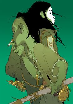 'The Divine' (Green Version) by Tomer Hanuka