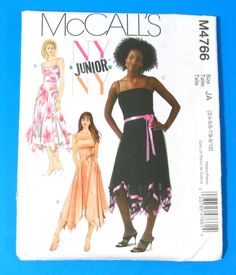 Handkerchief Dress Pattern | PIF Handkerchief Hem Dress Sewing Pattern McCalls 4766 Sizes 3/4 - 9 ...