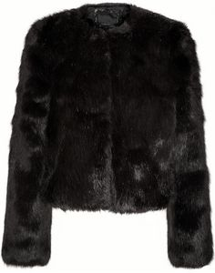 $545, Karl Lagerfeld Eveline Faux Fur Jacket. Sold by NET-A-PORTER.COM. Click for more info: https://lookastic.com/women/shop_items/107579/redirect
