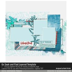 Go Seek and Find Layered Template- Katie Pertiet - PSE/PS Templates- LT197635- DesignerDigitals