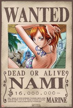 Poster One Piece Wanted Nami (52X35)
