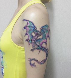 Your daily source for everything about tattoos! Browse the categories page for a full catalogue of inspo. I Tattoo, Cool Tattoos, Tatoos, Dragon Tattoo Designs, Dragon Tattoos, Watercolor Tattoo, Tatting, Body Art, Piercings