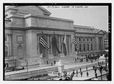 New York Public Library on opening day. Prints and Photographs collection, Library of Congress.