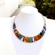 Yellow And Green African Fabric Jewelry Gift Set - Zabba Designs African Clothing Store  - 2