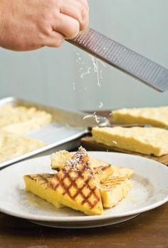 This grilled polenta would make a great side. The polenta can be prepared up to two days ahead of time, and left in the fridge until ready to grill - talk about a time saver.