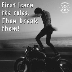 Wise words!!! #CafeRacersSA #caferacer #vintage #motorcycles #rules