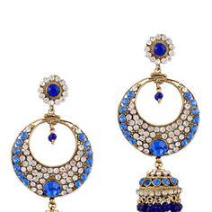 Blue Stone Studded Earring