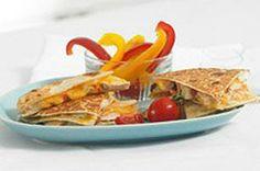 Speedy Salsa-Chicken Quesadillas #recipe