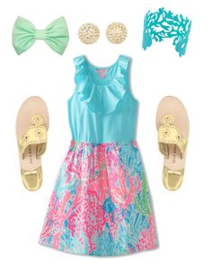 Lily Pulitzer dress with Jack Rogers sandals.