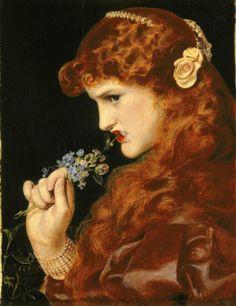 Pre Raphaelite Art: Frederick Sandys - Love's Shadow