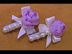 Flor de fitas em cetim com pistilhos Passo a Passo - YouTube