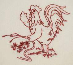 Vintage Chicken Design on Premium Flour Sack Towel
