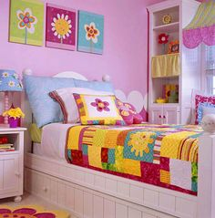 Quilts for Kids . . . Fast & Fusible Daisy Quilt  Brighten your child's room with a quilt made of vibrant colors. The various patterns add excitement.