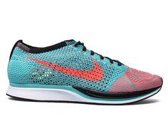 Nike Flyknit Racer 526628-306 Hyper Jade/Hyper Punch Size 14 #Nike…