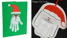 Handprint crafts for Christmas Christmas Projects, Family Christmas, Christmas Holidays, Christmas Ideas, Xmas, Santa Handprint, Handprint Art, Holiday Crafts For Kids, Holiday Fun