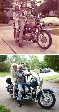 Um antes e depois após 40 anos de união - Foto: magic976