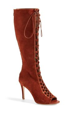 Joie 'Aubrey' Lace-Up Tall Boot (Women) available at #Nordstrom