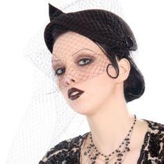 Gothic vintage glamour #hat #hair #makeup #gatsby #cabaret