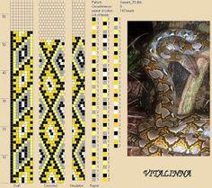 Inspirée par les motifs naturels de la peau de serpent j'ai créé quelques motifs pour mes prochains colliers au crochet avec le logiciel DB...