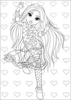 Moxie Girlz Tegninger til Farvelægning 4