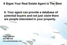 6 signs your real estate agent is the best #6