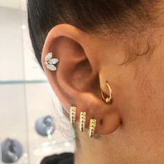 Tiny Stud Earrings, Rose Gold Earrings, Turquoise Earrings, Diamond Earrings, Fancy Earrings, Cartilage Earrings, Rihanna, New Ear Piercing, Ear Piercings