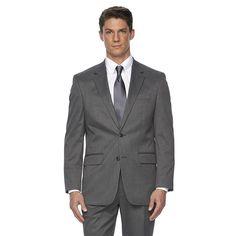 Men's Croft & Barrow® Stretch Classic-Fit True Comfort Suit Jacket, Size: 46 - regular, Grey