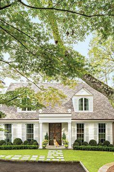 Charming Home Exteriors: Birmingham Colonial Cottage