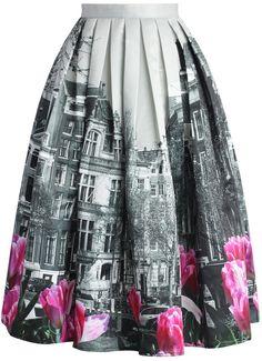Chicwish midi sukně Tulip Town