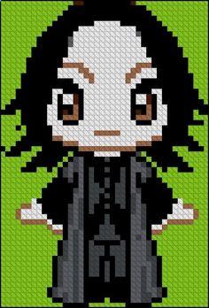 Snape Harry Potter perler bead pattern