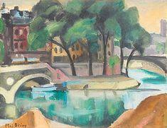 """MAJ BRING, """"Le Saint-Louis, Paris"""". Signed Maj Bring. Canvas 37 x 46 cm.. - Modern Autumn Sale, Stockholm 569 – Bukowskis"""