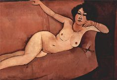 Nude on sofa (Almaisa), 1916 Amedeo Modigliani