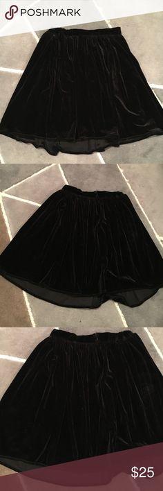Velvet Skater Skirt Velvet skater skirt one small flaw noted in pic Skirts Circle & Skater