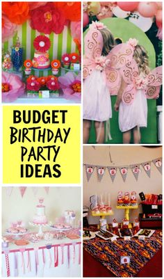Make any birthday special with ideas from these fabulous birthday parties on a budget