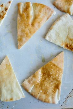 Pita chips are so easy to make and customize, and taste so good when you make them yourself, you'll wonder why you haven't been doing it this whole time