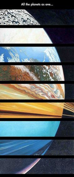 All The Planets Of Our Solar System In One Picture