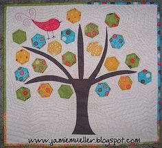 #hexies tree wallhanging