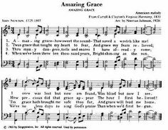 Amazing Grace Hymn | Taken from 101 Hymn Stories © Copyright 1982 by Kenneth W. Osbeck ...