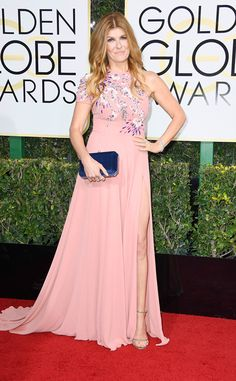 Connie Britton from 2017 Golden Globes Red Carpet Arrivals  In Edition by Georges Chakra