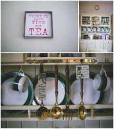 """Cute little kitchen quotes & signs - """"There is always time for tea"""""""