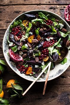 Winter Beet and Pomegranate Salad with Maple Candied Pecans