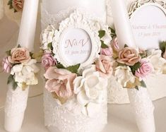Unity Candle Set For Wedding Unity Candle Set With Holder Unity Candle Set Gold Personalized Rustic Lace Blush and Gold Wedding Decorations - Ukraine Flowers Delivery Neutral Wedding Decor, Gold Wedding Theme, Pink And Gold Wedding, Pink Wedding Centerpieces, Bohemian Wedding Decorations, Wedding Unity Candles, Baptism Candle, Large Candles, Hanging Candles