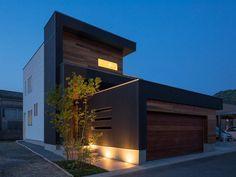 Perspectiva de moderna casa de dos pisos
