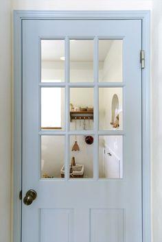 室内ドア/水色/ドア/輸入ドア/扉/インテリア/ナチュラルインテリア/注文住宅/施工例/ジャストの家/door/interior/house/homedecor/housedesign