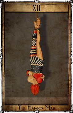 bowie tarot card deck | the hanged man | major arcana art | Oracle cards | psychic tools | divination