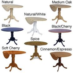 @Overstock.com   Round 42 Inch Drop Leaf Table   This Classic