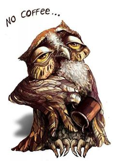 Morning. The Owl. Coffee. - Part 1 of 2 - Art by Alina Vial